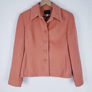 Louben Canada Cashmere Peach Blazer Jacket sz 8